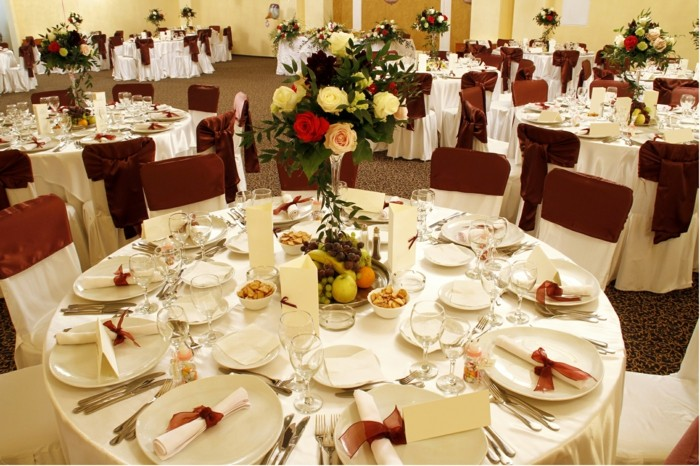 centers table weddings fruits flowers ideas