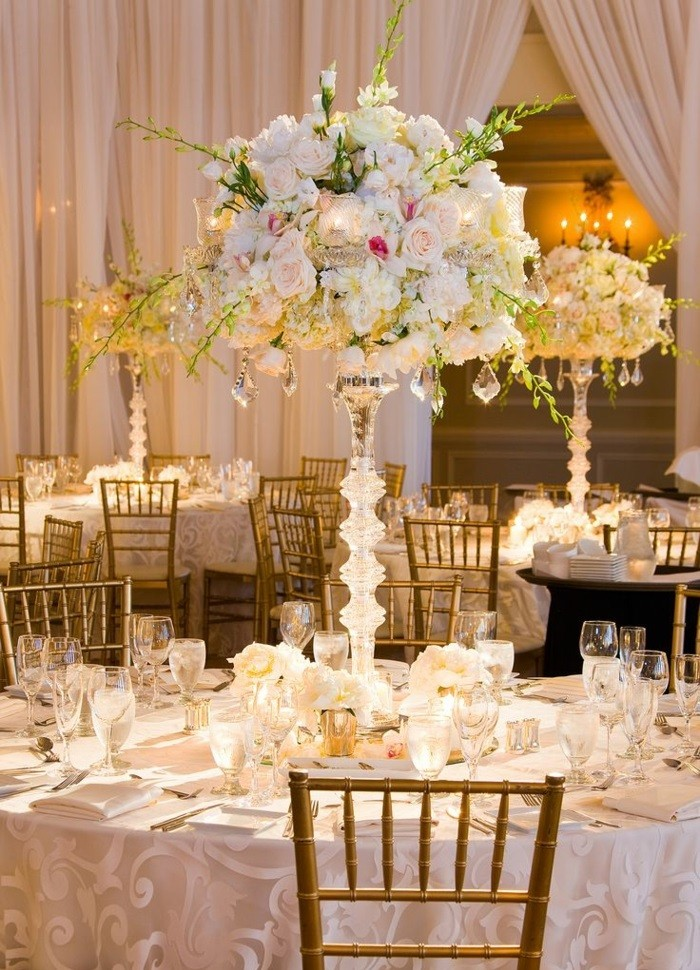 centers weddings glasses hanging ideas