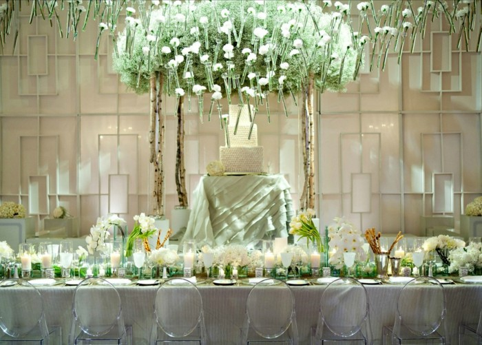 centers weddings candle flowers hanging roof ideas