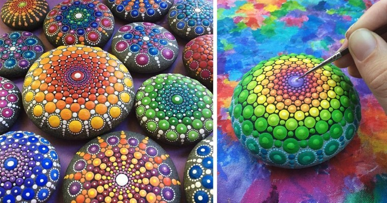 super decorative stones with mandalas