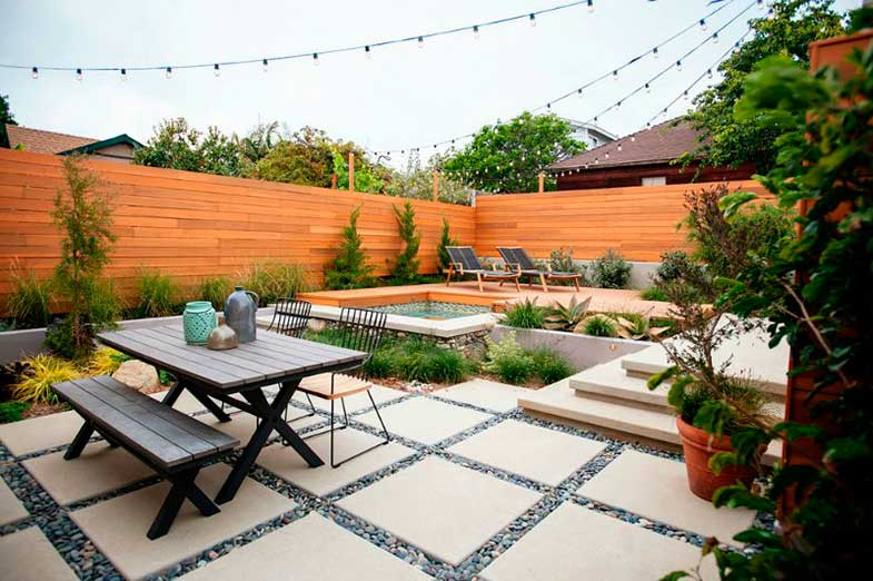 Ideas for decorating the terrace - Photo: The Falling Water Slanscape