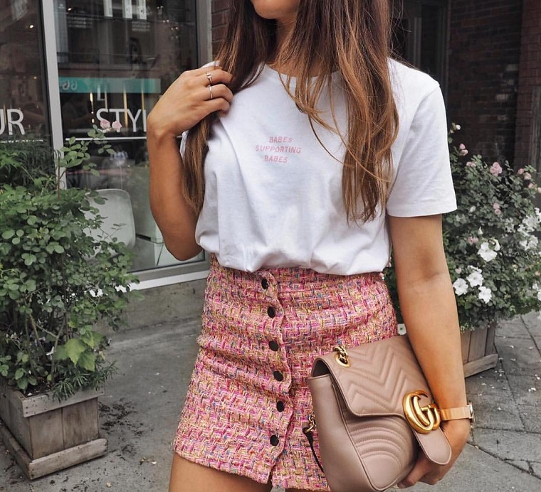 Fashion accessories 2019-t-shirt-white-skirt
