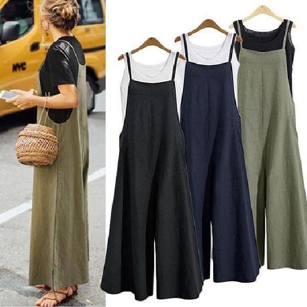 Women Plus Size Loose Comfy Linen Pants 1