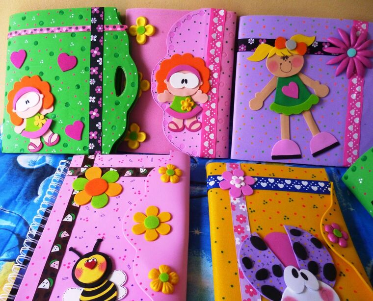 foamis decorated notebooks