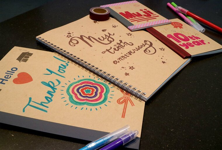 bookmarks decorated notebooks