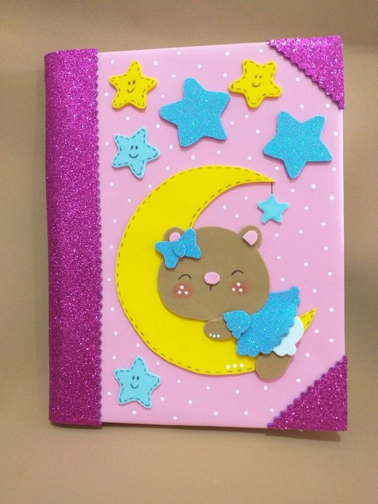 Foami decorated notebooks