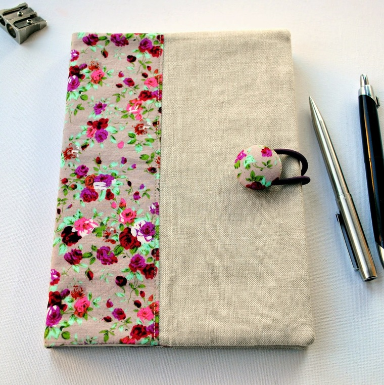 fabric decorated notebooks