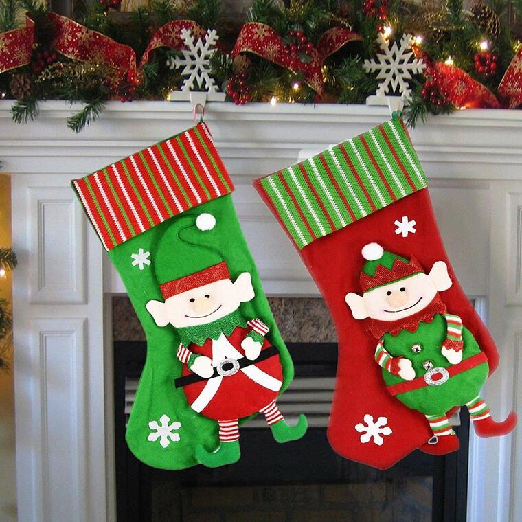 Christmas elf socks