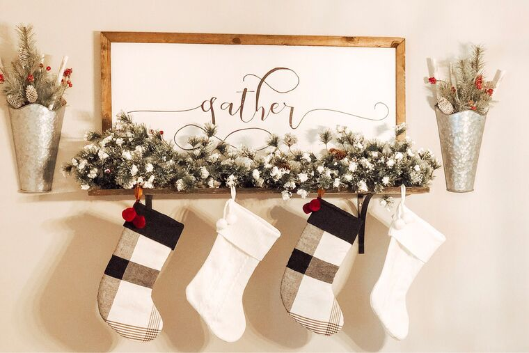 elegant christmas socks