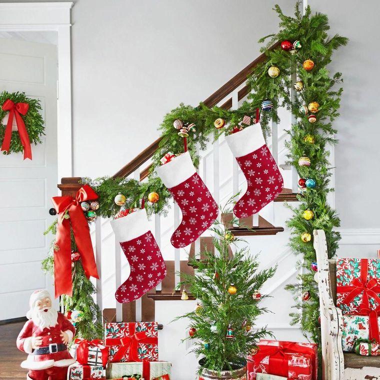 Christmas socks stairs