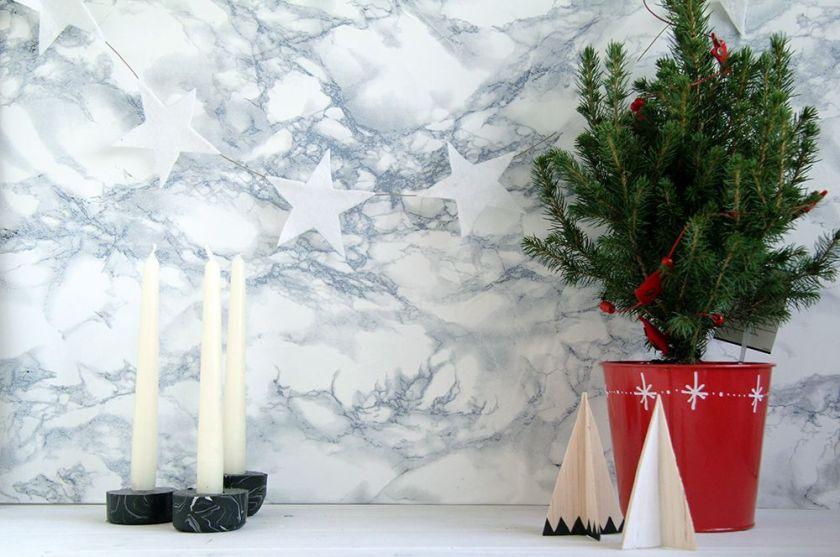 original Christmas crafts concept plants