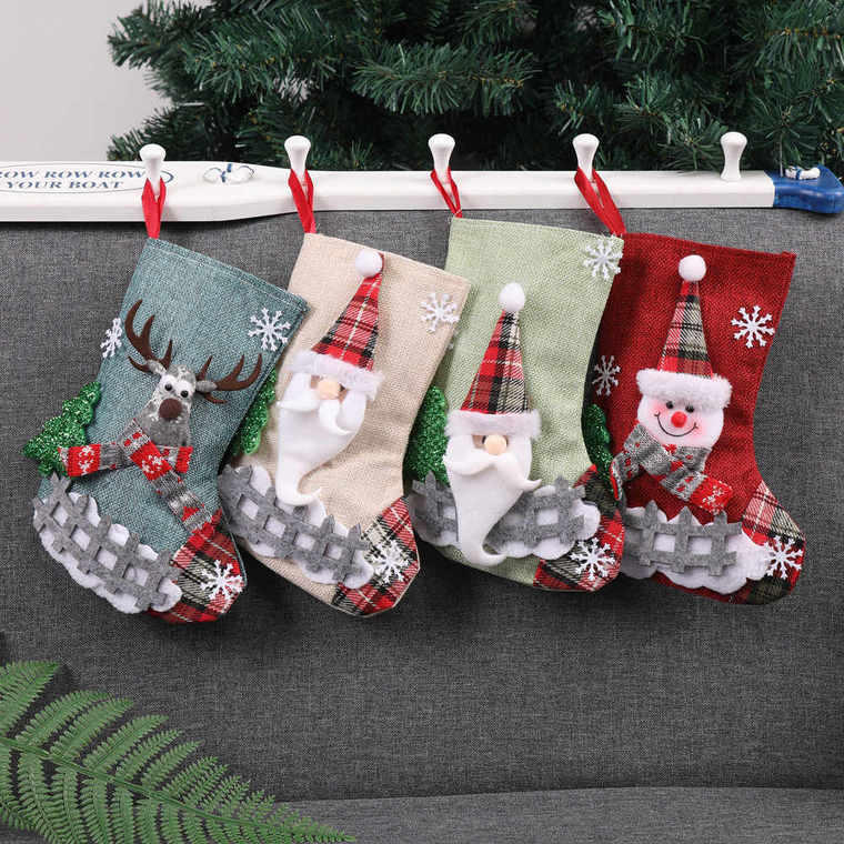 Christmas socks sofa