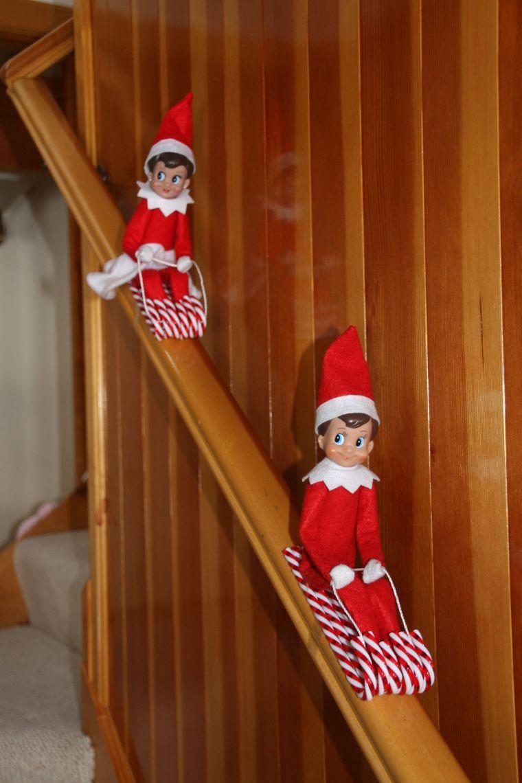 Christmas elves sled
