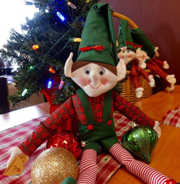 Christmas elves table