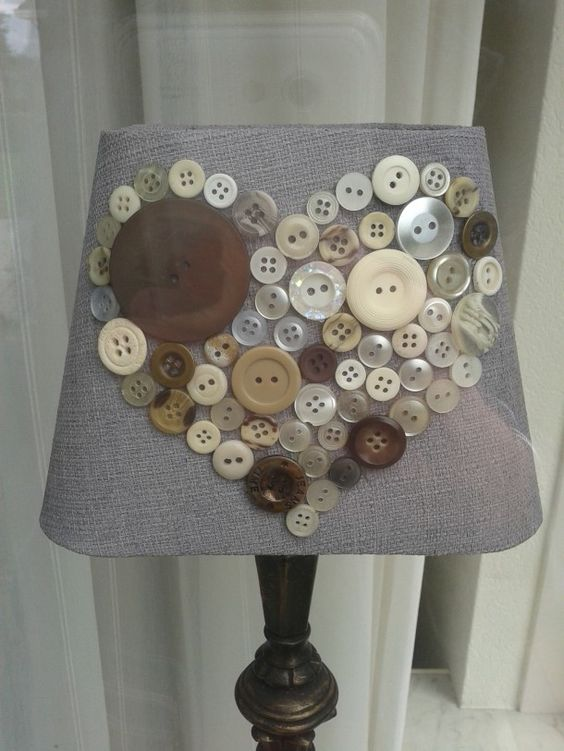 Lamps decorated with buttons