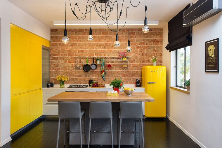 small yellow kitchens