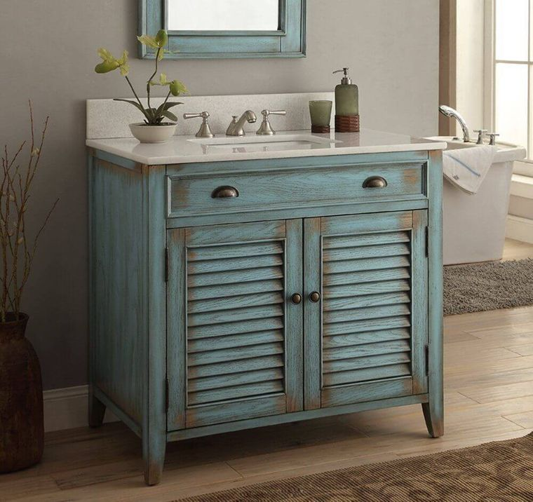 DIY vintage bathroom vanity