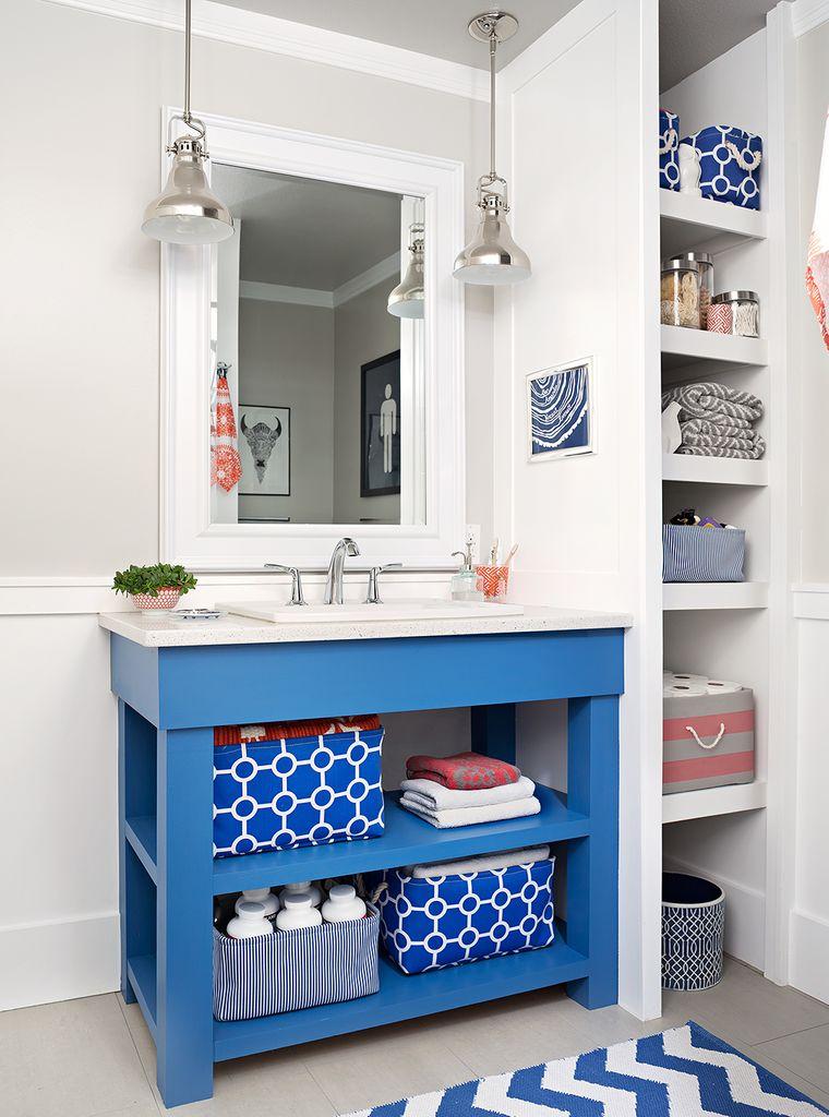 DIY open bathroom vanity