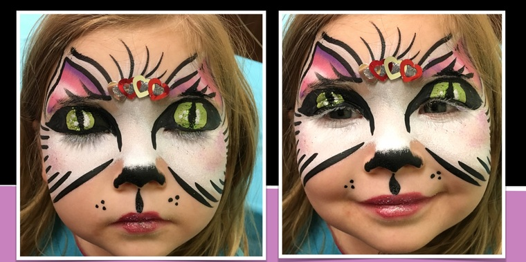 kitten children's face paint