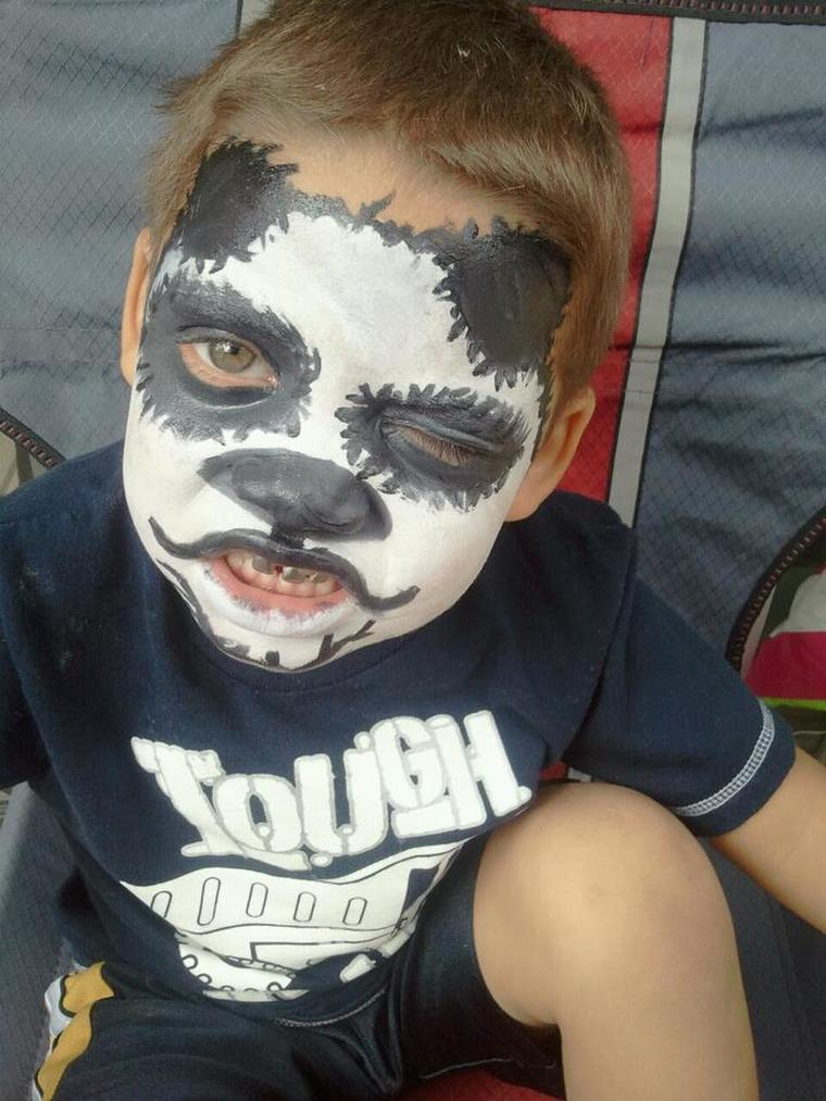 baby bear face painting
