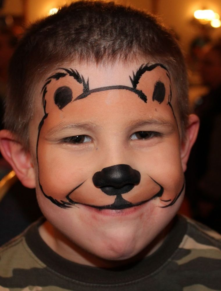 bear child face painting