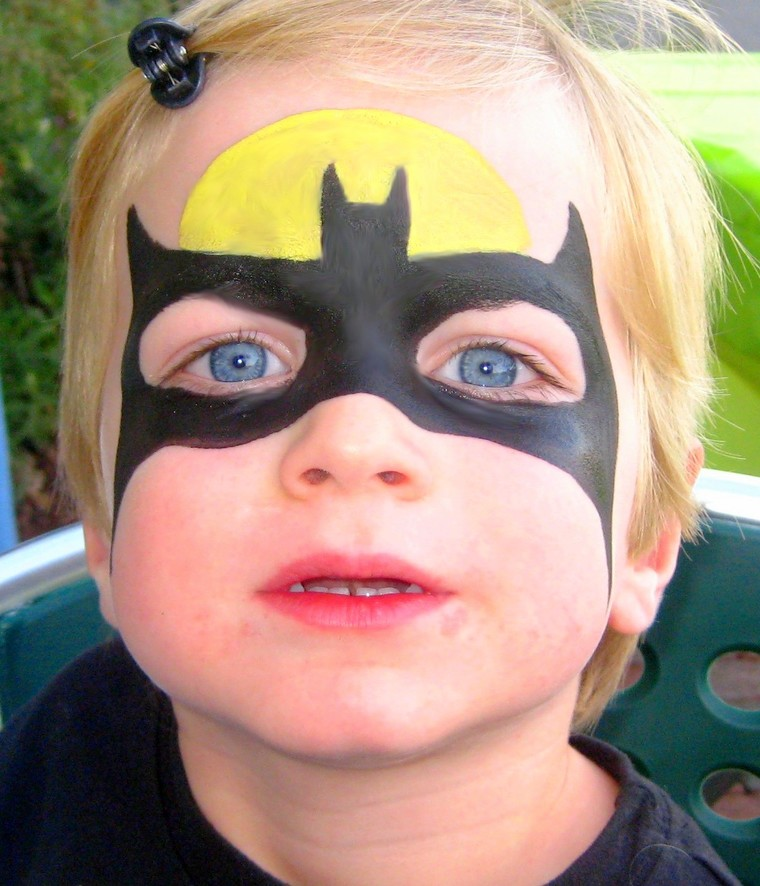 batman children's face painting