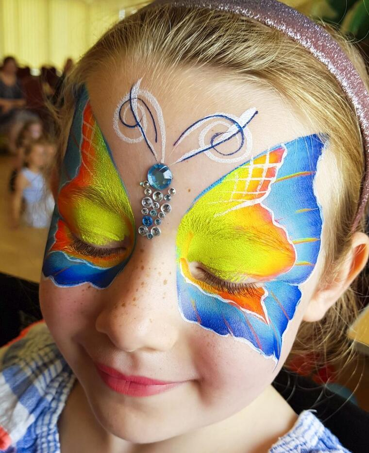 children's face paint wings