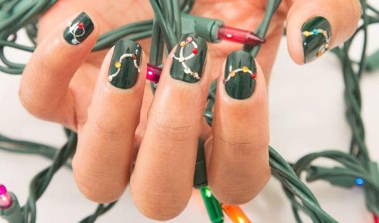 Christmas Nail Designs Lights