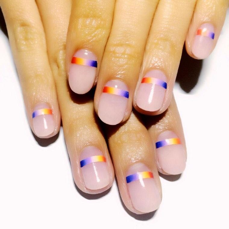 Geometric nails-ideas-colors-style