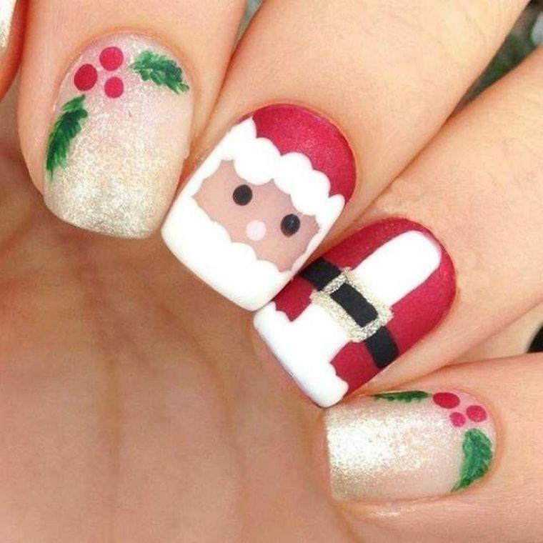 Christmas Nail Designs with Santa Face