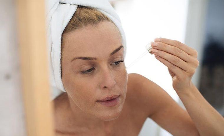 routine skincare with facial acids