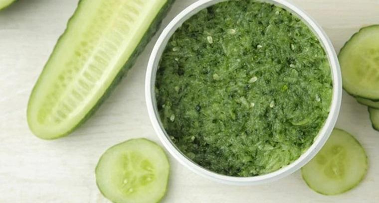 sunburn cucumber puree helps