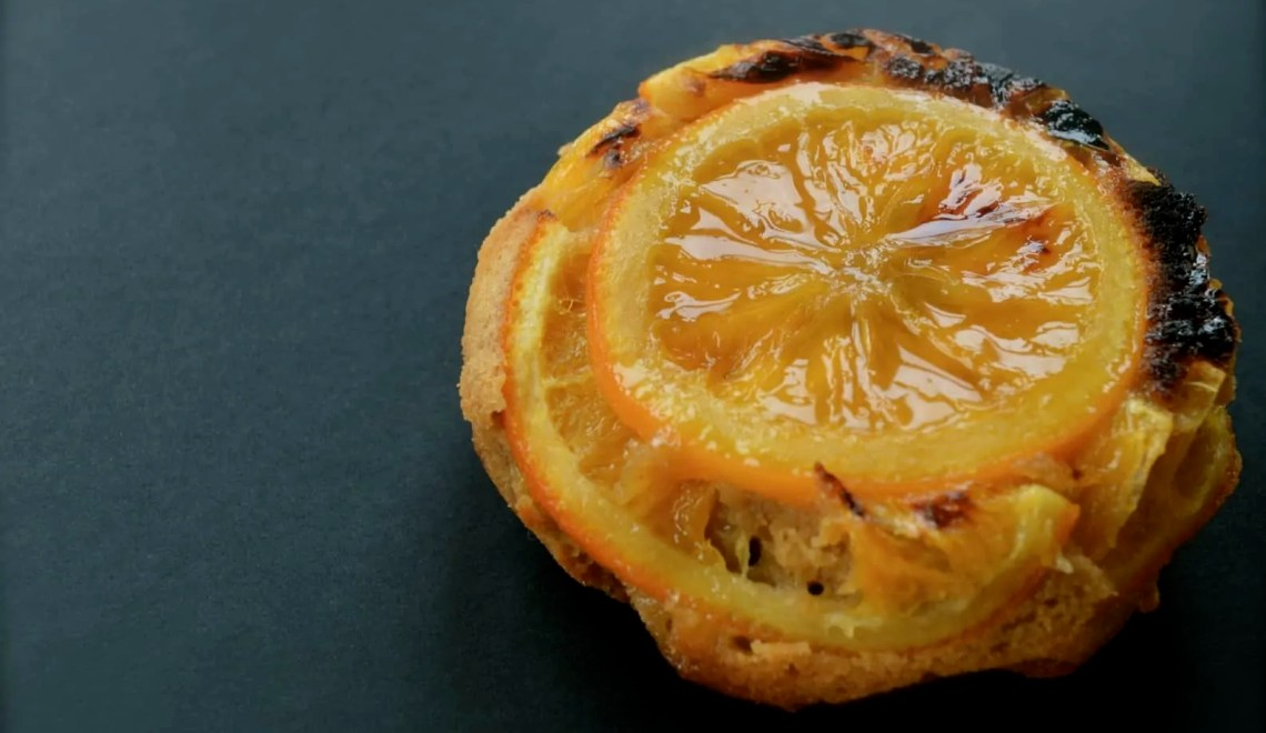 Orange and gin Upside-down cake