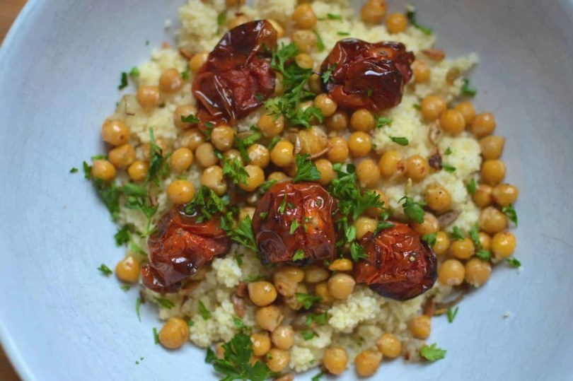 Slow Roasted Tomatoes with Moroccan Couscous