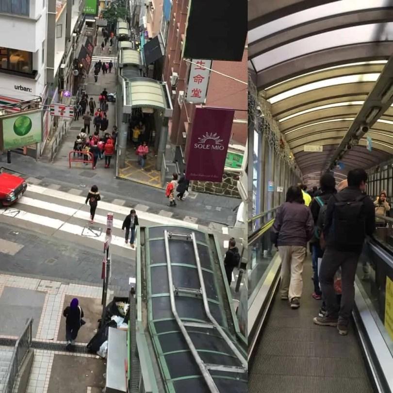 Central-Mid-level Escalator, Hong Kong