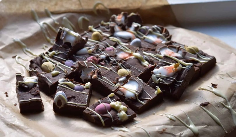 Easter chocolate fudge