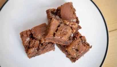 Nutella salted caramel brownies