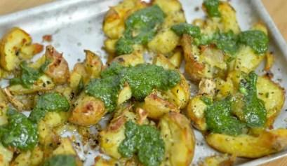 pesto roast potatoes