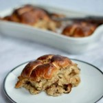 hot cross bun bread and butter pudding