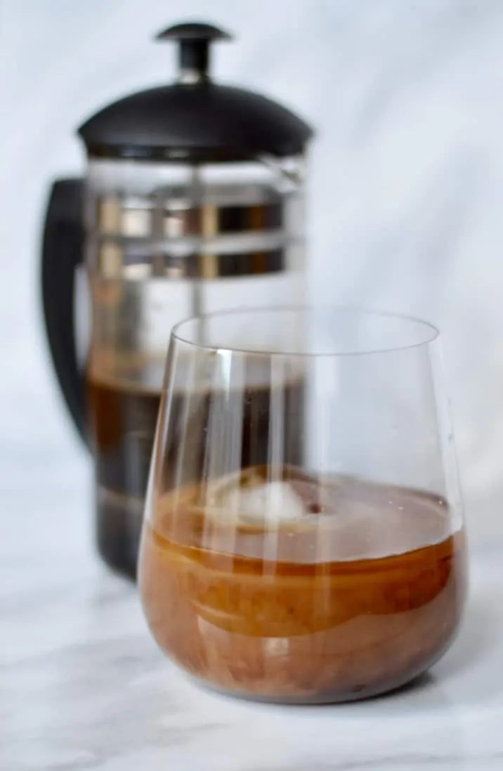 Cold brew amaretto cocktail