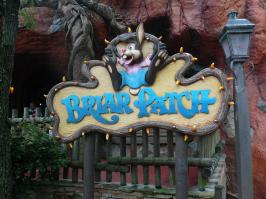 """Briar Patch Sign Splash Mountain Frontierland Magic Kingdom Walt Disney World"" by mrkathika is licensed under CC BY-SA"