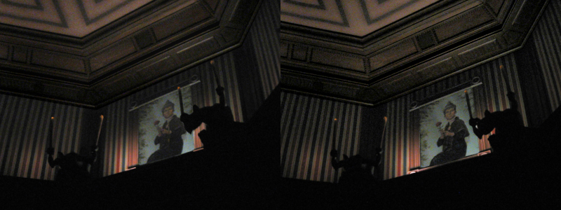 """Magic Kingdom - Haunted Mansion Stretchroom Stereogram"" by BoogaFrito is licensed under CC BY"