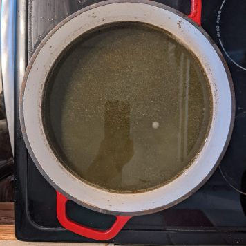 Slow boil of the juice