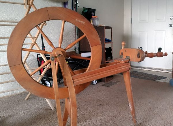 It is an entire-ass spinning wheel.
