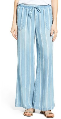 Blue stripes pants