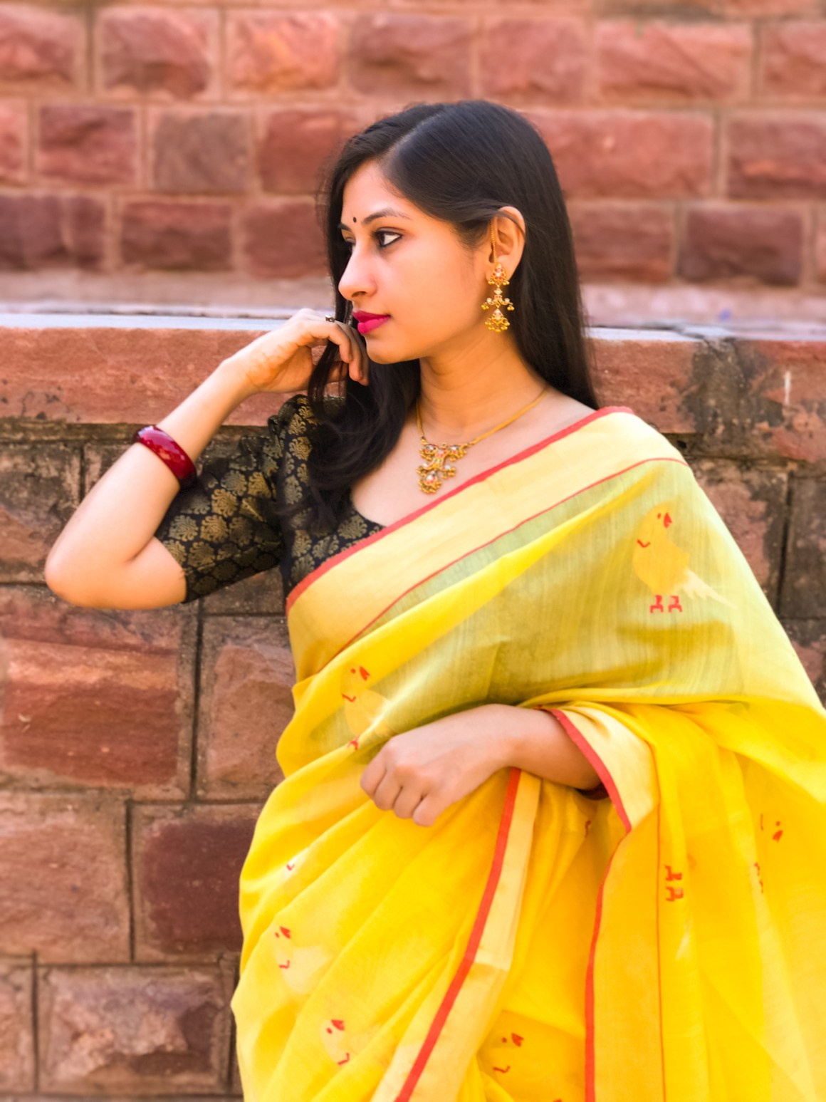 Celebrating the Saree - Yellow Chanderi saree