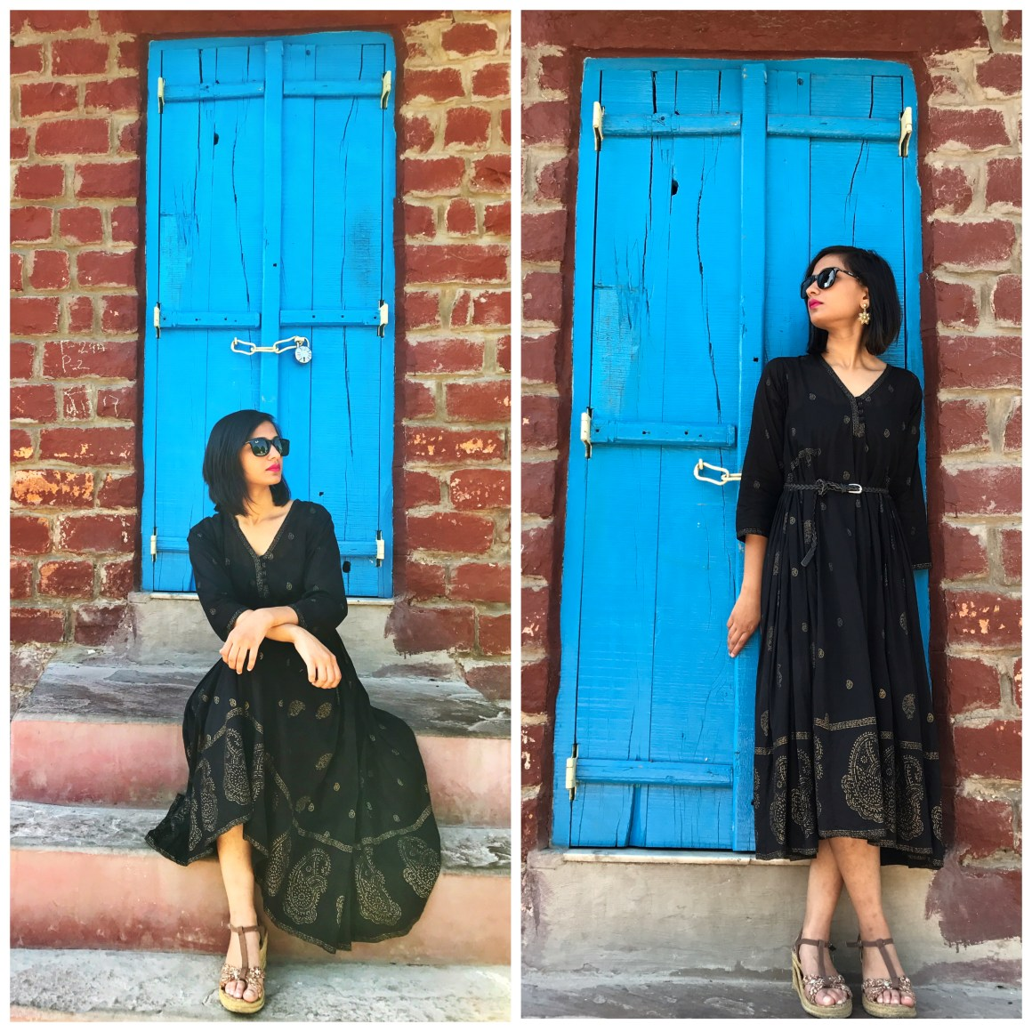 Of Summer Days & Cotton Dresses - Black dress - Anokhi Jaipur