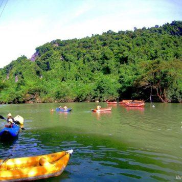 Kayaking at Dark Caves