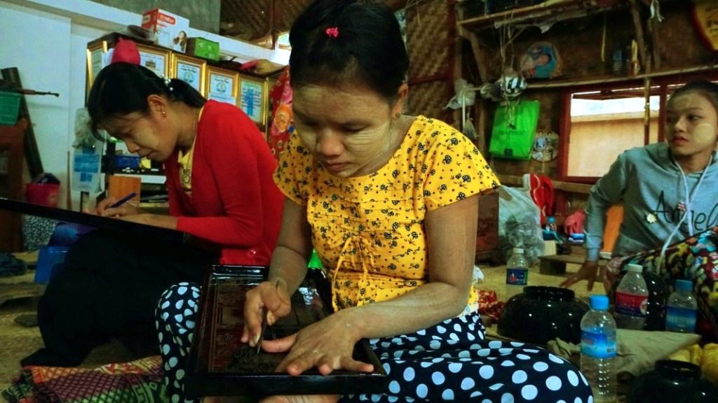 Lacquerware workshop, Bagan
