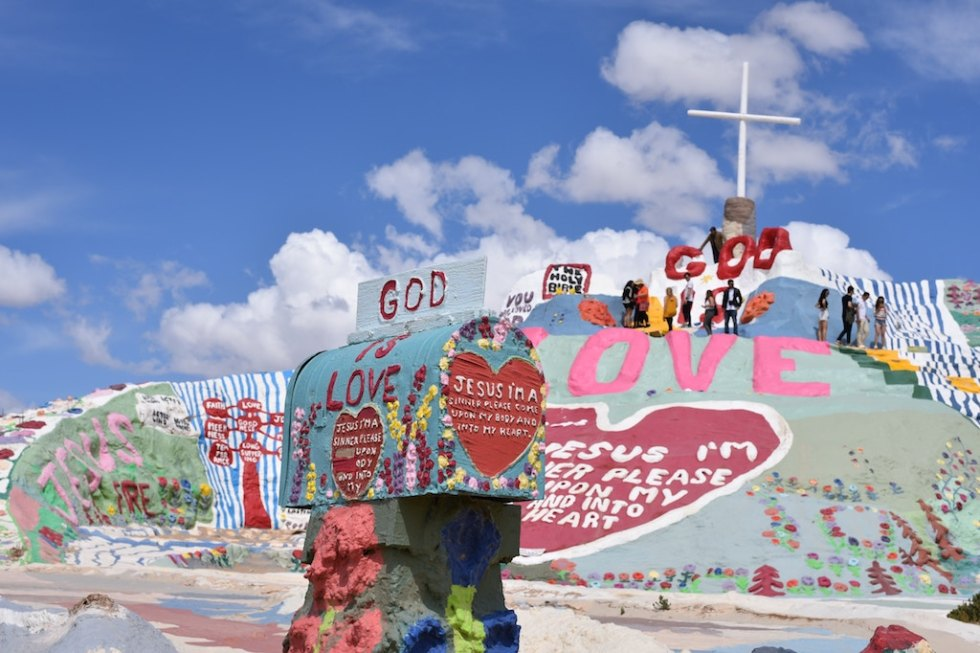 Salvation Mountain in California.
